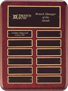 Rosewood Stained Piano Finish Perpetual Plaque- 9x12 inch
